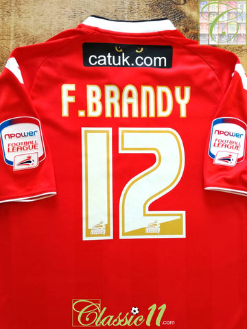 2012/13 Walsall Home Football League Shirt F.Brandy #12 (L)
