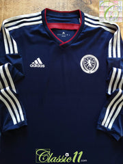 2014/15 Scotland Home Player Issue Football Shirt. (M)