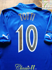 2003/04 Italy Home Football Shirt Totti #10 (S)