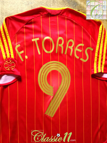 2006/07 Spain Home Football Shirt F. Torres #9 (M)