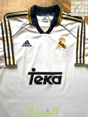 1998/99 Real Madrid Home Football Shirt (XL)