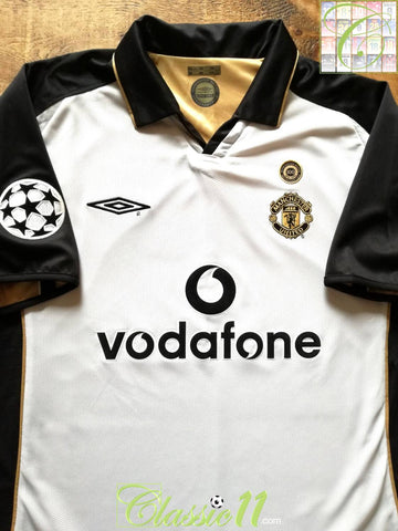 2001/02 Man Utd Away Centenary Champions League Football Shirt (L)
