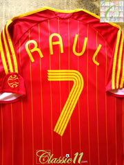 2006/07 Spain Home Football Shirt Raul #7 (M)