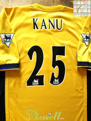 1999/00 Arsenal Away Premier League Football Shirt Kanu #25 (L)