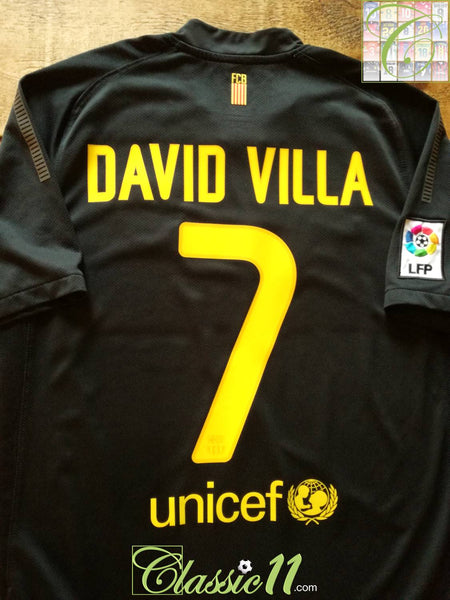 best service 39a31 6dea1 2011/12 Barcelona Away La Liga Football Shirt David Villa #7 ...