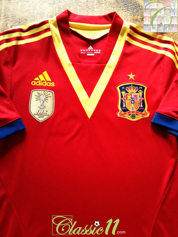2012/13 Spain Home Formotion Player Issue Football Shirt (M) (6)