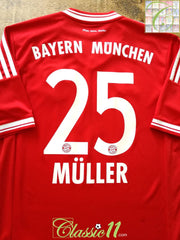 2013/14 Bayern Munich Home Football Shirt Müller #25 (S)