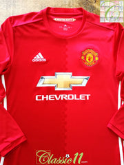 2016/17 Man Utd Home Football Shirt. (M)