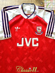 1990/91 Arsenal Home League Champions Football Shirt (L)
