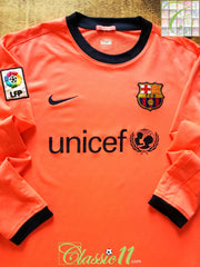 2009/10 Barcelona Away La Liga Football Shirt. (M)