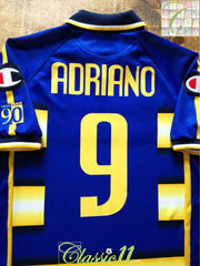 2003/04 Parma Home Football Shirt Adriano #9 (L)
