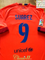 2014/15 Barcelona Away La Liga Football Shirt Suarez #9 (M)
