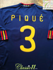 2010/11 Spain Away Football Shirt Piqué #3 (XL)
