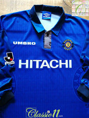 1997 Kashiwa Reysol Away J. League Player Issue Football Shirt. (L)