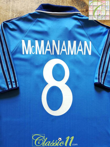 1999/00 Real Madrid 3rd Football Shirt Mcmanaman #8 (M)