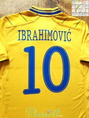 2012/13 Sweden Home Football Shirt Ibrahimović #10 (M)