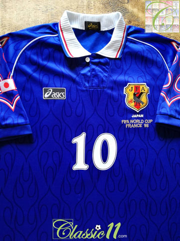 1998 Japan Home World Cup Player Issue Football Shirt #10 (L)