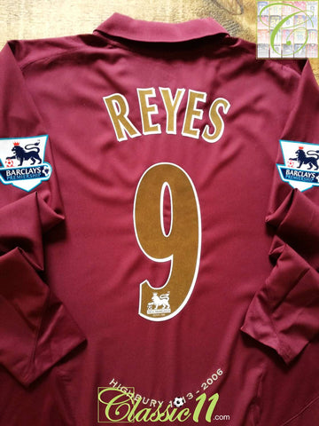 2005/06 Arsenal Home Premier League Football Shirt. Reyes #9 (XL)