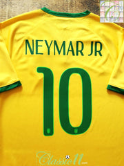 2014/15 Brazil Home Football Shirt Neymar JR #10 (M)