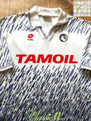 1991/92 Atalanta Away Football Shirt (L)