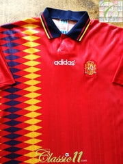 1994/95 Spain Home Football Shirt (M)