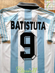 1998/99 Argentina Home Football Shirt Batistuta #9 (L)
