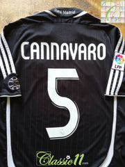 2006/07 Real Madrid Away La Liga Football Shirt Cannavaro #5 (S)