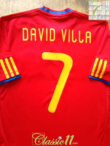 2009/10 Spain Home Football Shirt David Villa #7 (S)