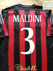 2015/16 AC Milan Home Football Shirt Maldini #3 (XXXL)