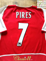 2002/03 Arsenal Home Premier League Football Shirt Pires #7 (S)