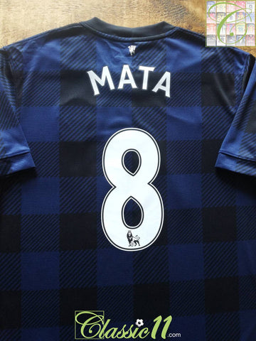 2013/14 Man Utd Away Premier League Football Shirt Mata #8 (M)