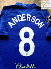 2008/09 Man Utd 3rd Champions League Football Shirt Anderson #8 (XL)