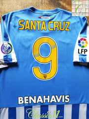 2014/15 Málaga Home La Liga Football Shirt Santa Cruz #9 (L)