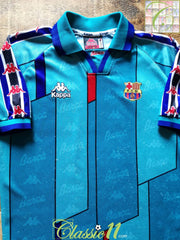 1995/96 Barcelona Away Football Shirt (S)