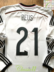 2014/15 Germany Home Football Shirt. Reus #21 (S)