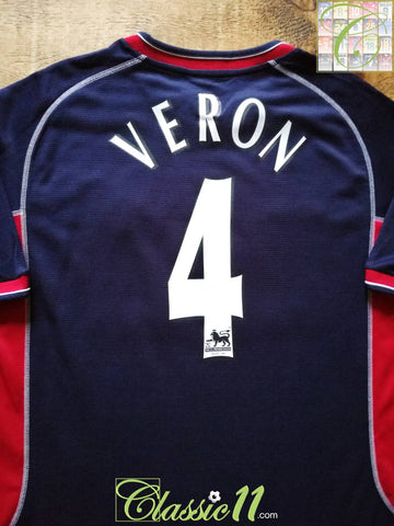 2000/01 Man Utd 3rd Premier League Football Shirt Veron #4 (M)