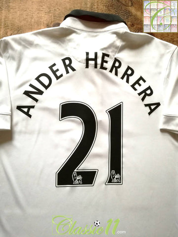 2014/15 Man Utd Away Premier League Football Shirt Ander Herrera #21 (M)