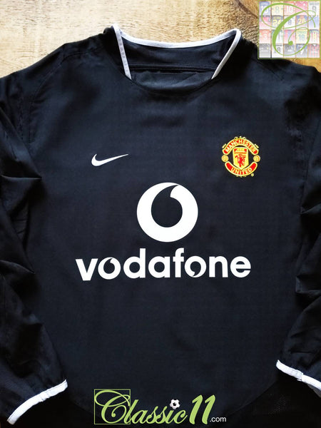 e59a3ab88 2003 04 Man Utd Away Football Shirt   Old Vintage Nike Soccer Jersey ...