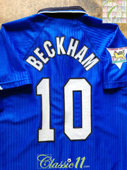 1996/97 Man Utd 3rd Premier League Football Shirt Beckham #10 (B)