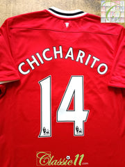 2011/12 Man Utd Home Premier League Football Shirt Chicharito #14 (M)
