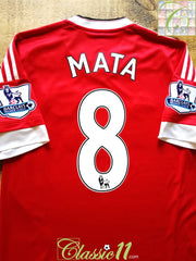2015/16 Man Utd Home Premier League Football Shirt Mata #8 (M)
