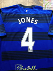 2011/12 Man Utd Away Premier League Football Shirt Jones #4 (L)
