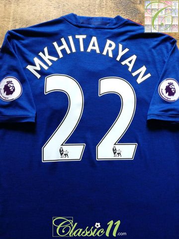 2016/17 Man Utd Away Premier League Football Shirt Mkhitaryan #22 (L)