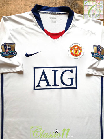2008/09 Man Utd Away Premier League Football Shirt (L)
