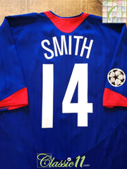 2005/06 Man Utd Away Champions League Football Shirt Smith #14 (XXL)
