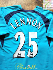 2006/07 Tottenham Away Premier League Football Shirt Lennon #25 (M)