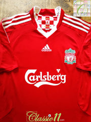 2008/09 Liverpool Home Football Shirt (M)