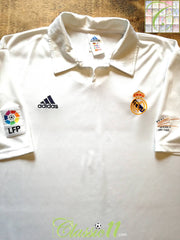 2001/02 Real Madrid Home La Liga Centenary Football Shirt (XL)