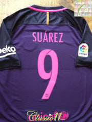 2016/17 Barcelona Away La Liga Football Shirt Suarez #9 (M)