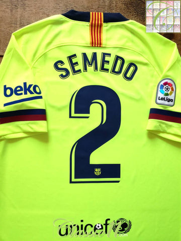 2018/19 Barcelona Away La Liga Football Shirt Semedo #2 (M)
